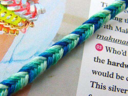 customisable string bracelets