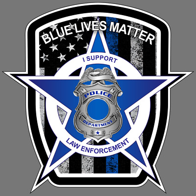 Blue Lives Matter Police American Flag Car Truck Window Decal Vinyl Sticker Usa Ebay