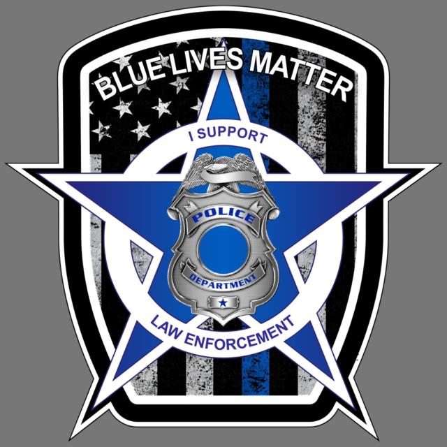 Blue Lives Matter Police American Flag Car Truck Window Decal Vinyl Sticker USA