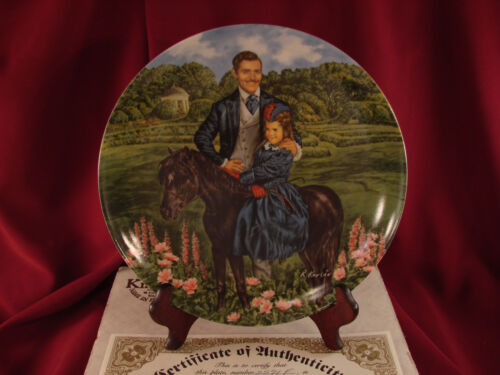 """BONNIE AND RHETT"" Gone with the Wind Knowles Collector's Plate BOX & COA #K82"