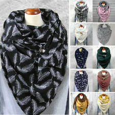 Womens Mens Casual Winter Scarf Thick Warm Shawl Windproof Wrap Scarves One Size