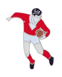 Georgia Rugby Player Pin Badge
