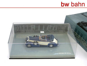 Minichamps-1-43-436012032-Horch-853a-Sport-Cabriolet-1938-BLU