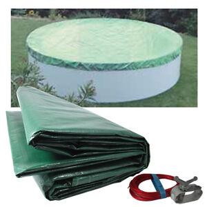 abdeckplane pool abdeckung plane winterabdeckung pool rund 500 cm ebay. Black Bedroom Furniture Sets. Home Design Ideas
