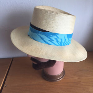 Image is loading Hawaiian-Headwear-Finely-Woven-Straw-Hat-Colorful-Band 68393e4432a8
