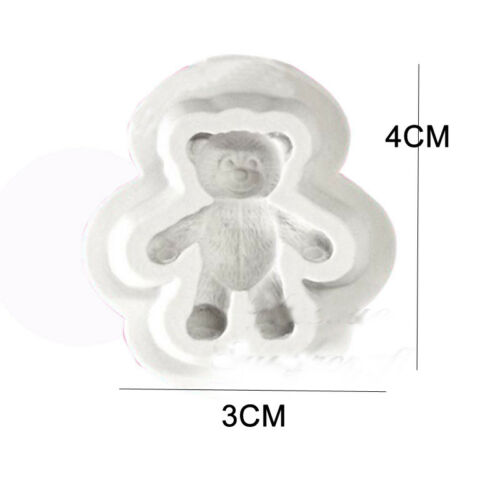3D Bear Silicone Fondant Mould Cake Animal Teddy Wild Zoo Chocolate Baking Mold