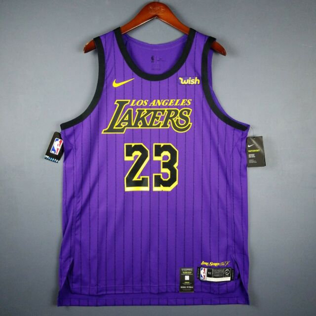 15d16263609 100% Authentic Lebron James Nike City Edition Lakers jersey Size 52 XL Mens