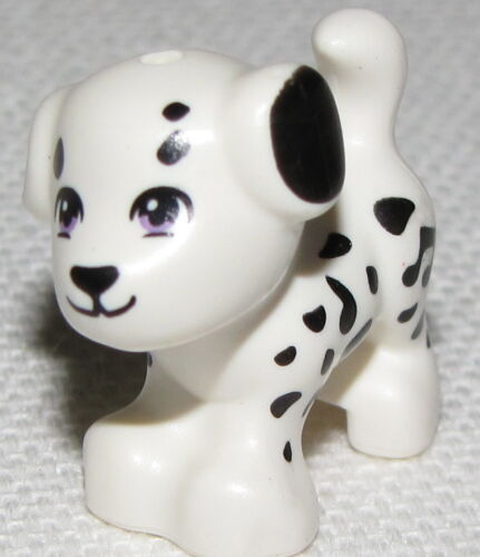 LEGO NEW SPOTTED DALMATIAN DOG PUPPY ANIMAL FRIENDS PIECE