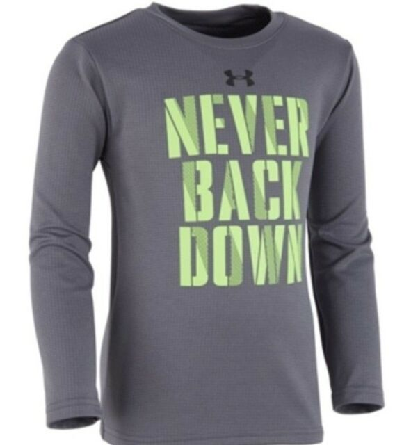 738182424 Under Armour Little Boys Long Sleeve Graphic Print Tee Shirt NWT Size 2T