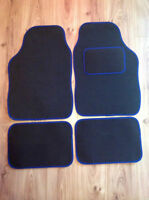 Universal Black and Blue Car Mat - PEUGEOT 106 107 206 207 307 308 407