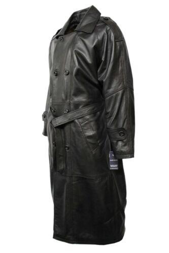 Full Classic Nappa italiano Db Trench Nero Length Men's vera Overcoat pelle PAwqFW7