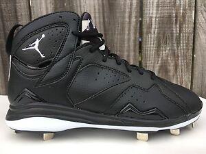 887de628555e Men s Nike Air Jordan 7 VII Retro Metal Cleats Black White Oreo Bugs ...
