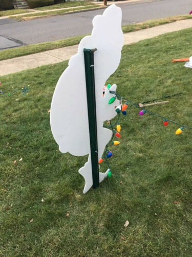 Yard sign Christmas Grinch stealing lights props 3 pcs set