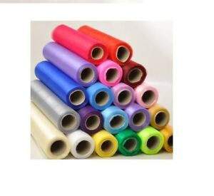 30-cm-x-70-cm-Organza-Roll-tissu-transparent-CHAISE-Avec-N-ud-de-Ruban-Mariage-Table-Runner-Parti
