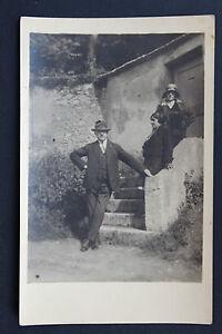 Postcard-Antique-CPA-Animated-Photo-Lady-Portrait
