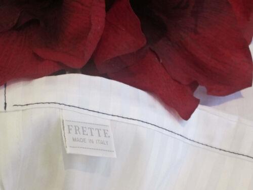 FREE SHIP NOW ONLY! 5 FRETTE 310TC Rigato Ara White Stripe Queen Flat Sheet Set