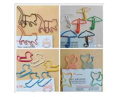 10 x Cute kawaii paper clips variety 25+ designs fab quality multi colour school