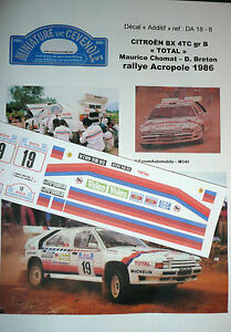 DECAL-ADDITIF1-43-CITROEN-BX-4-TC-CHOMAT-TOTAL-RALLYE-ACROPOLE-1986