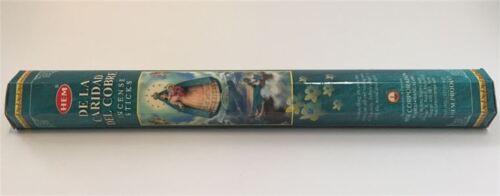 LOT OF 20 Stick DE LA CARIDAD COBRE  Incense HEM ~ 1 TUBE OF 20 Sticks