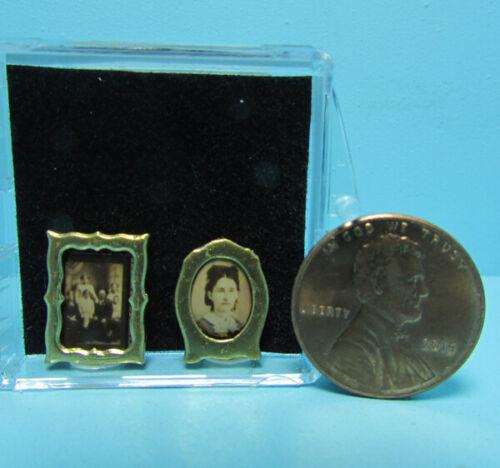 Dollhouse Miniature Chrysnbon Desk or Table Top Victorian Picture Set CB49