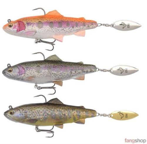 Savage Gear 4d SPIN SHAD Trout 11 cm 14,5 cm 40 g 80 g MS détraqué Feuille Caoutchouc Leurre