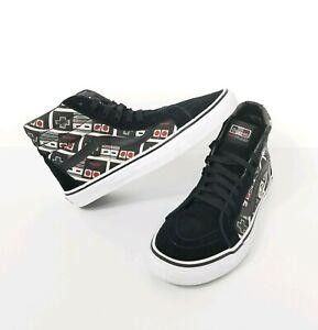 27365f83c6 Vans X Nintendo Sk8 Hi Black Controller Skate Boarding Sneakers Mens ...