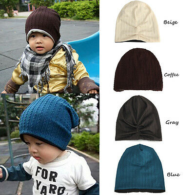 2016 New Children Baby Infant Toddler Boy Kids Baggy Beanie Cap Cotton Warm Hat