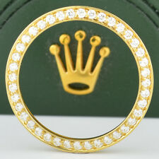 Ladies 18k YG Bead Set Diamond Bezel for Rolex Watch 179173 Datejust .80 of 1 ct