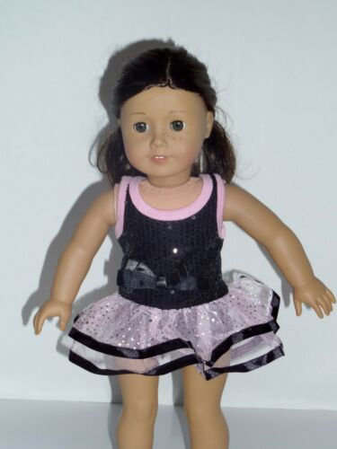 "Pink and black dance outfit 18"" doll clothing fits American Girl"