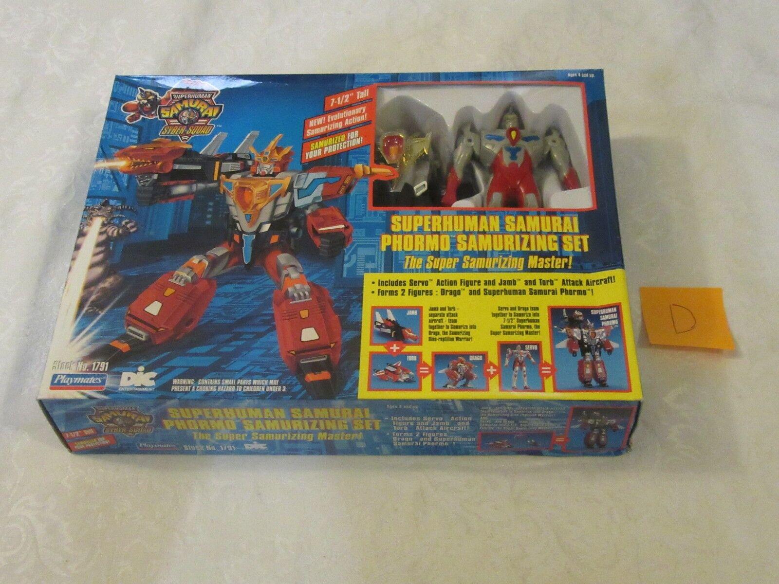 Playmates DIC SuperHuman SuperHuman SuperHuman Samurai Syber-Squad Phormo Samurizing Set 1994 D e20757