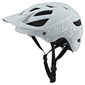 Troy Lee Designs A1 MIPS Classic Mountain Bike Helmet Light Gray / White MD/LG
