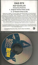 DAS EFX w/ REDMAN Rap Scholar w/ 2 RARE CLEAN TRX PROMO DJ CD single 1998 USA