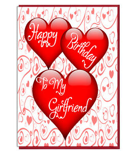 Image Is Loading Cute Love Heart Birthday Greeting Card Happy