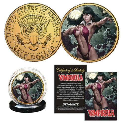 Vampirella # 4 ARTGERM Collectible Coin With Stand /& Cert !! NEW !!