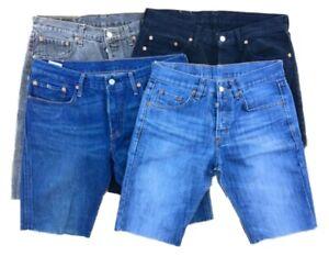 Men-039-s-Vintage-levi-s-corta-pantalones-cortos-de-mezclilla-501-505-550-511-514-Grado-A