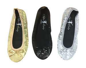 Roll Up Satin Foldable Flats Ballet Ladies After Party Shoes With Foldable bag Dr. Scholl's® For Her Fast Flats Foldable After Party Woman Ladies Pumps Up Folding Travel Ballet Comfort Shoes Black with Golden Carrying Wristlet Case ().