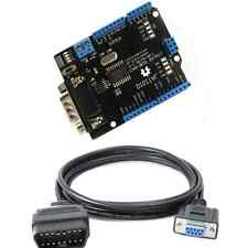 CAN-BUS Shield EF02037 (arduino compatible) + OBD2 to DB9 cable  ships from USA
