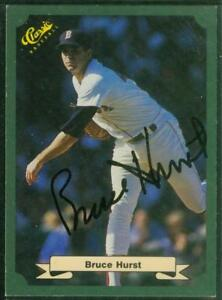 Original-Autograph-of-Bruce-Hurst-of-the-Boston-Red-Sox-1987-Green-Classic-Card