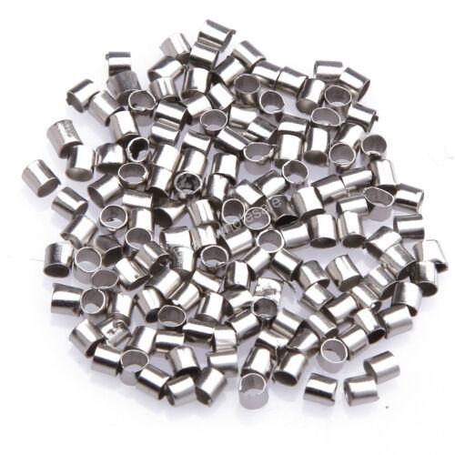 500// 1000 Quetschröhrchen 1,5mm//2mm silber antiksilber gold Quetschperlen Crimps