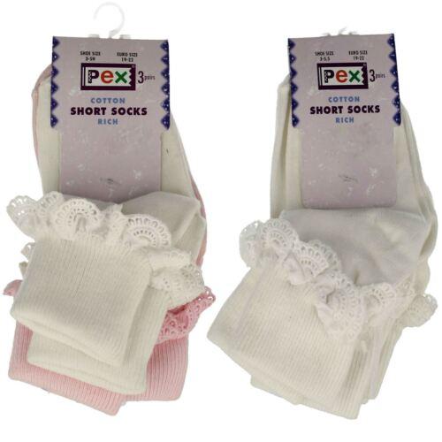 Girls PEX Short Frill Socks