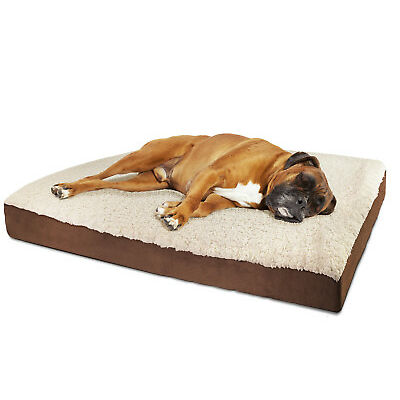 Orthopedic Dog Bed  Pet Lounger Deluxe Cushion for Crate Foam Soft -Medium