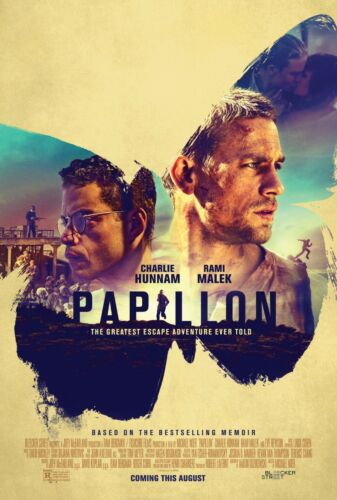 PAPILLON POSTER A4 A3 A2 A1 CINEMA MOVIE LARGE FORMAT