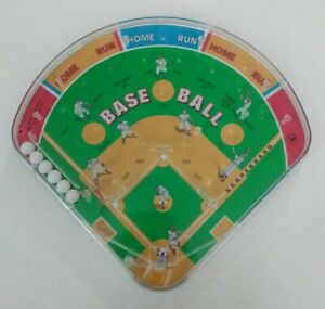 Schylling-Baseball-Diamond-Pinball-Game-Marble-Tabletop-Handheld-Play-Ball