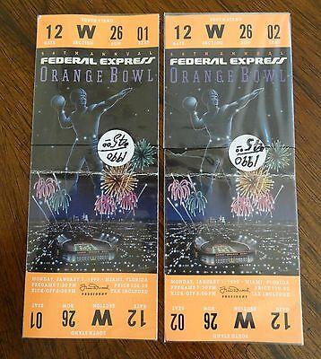1990 Colorado vs Notre Dame Orange Bowl Football Game ...