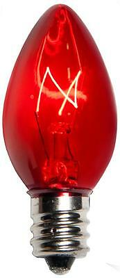 Box of 50 C7 Twinkle Clear Transparent Christmas Bulbs