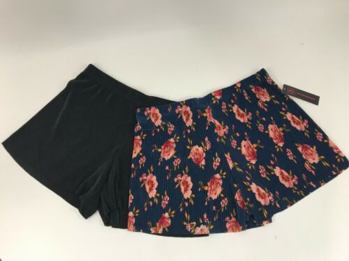 Juniors Printed Pleated Short 2 piece Floral CHOOSE A SIZE No Boundaries