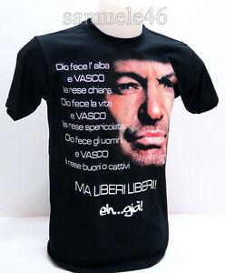 Dettagli su T Shirt Maglia Maglietta VASCO ROSSI taglie XS S M L XL
