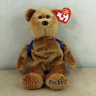2007 Ty Beanie Baby 123's Brown Bear With Backpack MWMTS 1 Owner Smoke Home