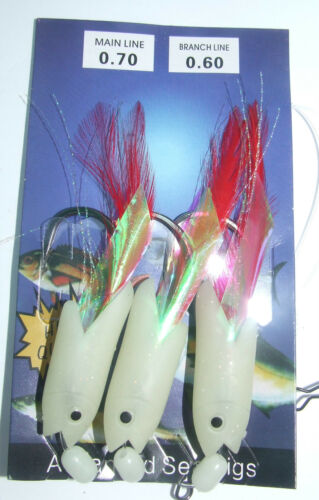 4 Colours Available Saltwater Fishing Jumbo Hokki Rig