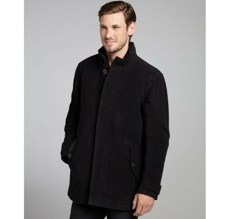 Andrew Marc Charcoal Wool Blend Zipout Liner Coat Size XXL NWT